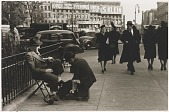 view Untitled--Shoe Shine Man, from the portfolio Photographs of New York digital asset number 1