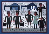 view Six Figures with Pigeons and Buildings digital asset number 1