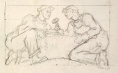 view Welders (sketch for relief panel, U.S. Federal Trade Commission Building) digital asset number 1