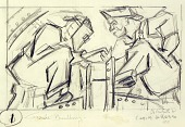view Welders 1 (sketch for relief panel, U.S. Federal Trade Commission Building) digital asset number 1