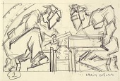 view Welders 2 (sketch for relief panel, U.S. Federal Trade Commission Building) digital asset number 1