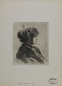 view Untitled--Woman with Scarf and Disheveled Hair digital asset number 1