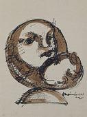 view Mother Love (study for sculpture) digital asset number 1