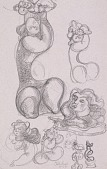view I Love My Baby (study for sculpture; plus various sketches) digital asset number 1