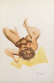 view Untitled (reclining nude grasping ankle) digital asset number 1