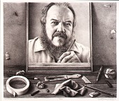 view Self-Portrait, Drawing digital asset number 1