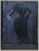 view Untitled (torso-length, rear view, standing female nude holding hair off of neck) digital asset number 1