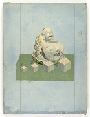 view Untitled (Chinese Porcelain of seated man and urn) digital asset number 1
