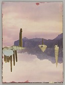 """view Untitled (landscape with dry mountains and cacti with """"mirror image"""") digital asset number 1"""
