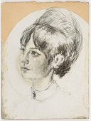 view Untitled (young female with bouffant hairdo) digital asset number 1