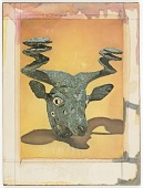 view Untitled (eroded bronze bull's head) digital asset number 1