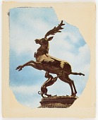 view Untitled (statue of small hound biting belly of leaping stag) digital asset number 1