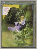 view Untitled (baby in purple shoe in garden setting) digital asset number 1
