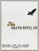 view Untitled (hotel advertisement, Hotel de la Mer, Quai Vallee, 12 et 14) digital asset number 1