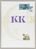 """view Untitled (stencil letters """"K"""" in yellow) digital asset number 1"""