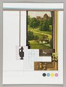 view Mathematics and Art (Northern Renaissance landscape, man walking over bridge) digital asset number 1