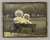 view Untitled (Joseph Cornell and sister Elizabeth [Betty] in wagon) digital asset number 1