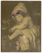 view Untitled (Child with Umbrella Top on Forehead, White Cat) digital asset number 1