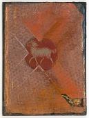 view Untitled (orange metallic circular cutout of ram) digital asset number 1
