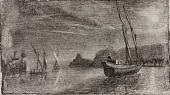 view Untitled (Boats in Harbor) digital asset number 1