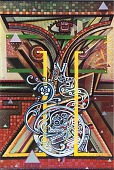 view Resistance to Cultural Death - An Affirmation of My Past, from the National Chicano Screenprint Taller, 1988-89 digital asset number 1