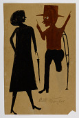 view Untitled (Woman with Umbrella and Man on Crutch) digital asset number 1