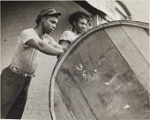 view Rolling a Hogshead of Tobacco (Richmond, Virginia), from the project The Negro in Virginia digital asset number 1