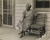 view Untitled (Woman on a Bench), from the project The Negro in Virginia digital asset number 1