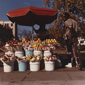view Fruit Seller with man on bicycle, from the series Connecticut Avenue digital asset number 1