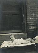 view Baby on a Stoop, Kensington, Philadelphia digital asset number 1