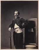 view Major H. A. Barnum, Recovery after a Penetrating Gunshot Wound of the Abdomen with Perforation of the Left Ilium, from the Photographic Catalogue of the Surgical Section digital asset number 1