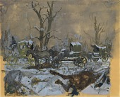 view Study for Winter Mural, Four Seasons of the Confederacy digital asset number 1