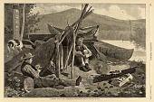 view Camping Out in the Adirondack Mountains, from Harper's Weekly, November 7, 1874 digital asset number 1