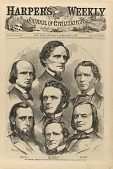 view The Seceding Mississippi Delegation in Congress, from Harper's Weekly, February 2, 1861 digital asset number 1
