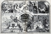 view Thanksgiving Day, 1860, The Two Great Classes of Society, from Harper's Weekly, December 1, 1860 digital asset number 1