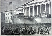 view The Inauguration of Abraham Lincoln as President, from Harper's Weekly, March 4, 1861 digital asset number 1