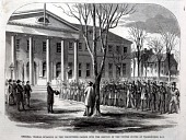 view General Thomas Swearing in the Volunteers Called Into the Service of the United States at Washington, D.C., from Harper's Weekly, April 27, 1861 digital asset number 1