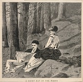 view A Quiet Day in the Woods, from Appletons' Journal of Literature, Science, and Art, June 25, 1870 digital asset number 1