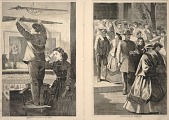 view Thanksgiving Day--Hanging up the Musket/Thanksgiving Day--The Church Porch, from Frank Leslie's Illustrated Newspaper, December 23, 1865 digital asset number 1