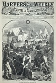 view Christmas Boxes in Camp--Christmas, 1861, from Harper's Weekly, January 4, 1862 digital asset number 1