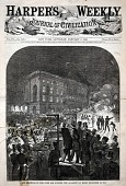 view Union Meetings in the Open Air Outside the Academy of Music, December 19, 1859, from Harper's Weekly, January 7, 1860 digital asset number 1