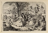 view Picnicking in the Woods, from Harper's Weekly, September 4, 1858 digital asset number 1