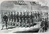 view The Seventy-Ninth Regiment (Highlanders) New York State Militia, from Harper's Weekly, May 25, 1861 digital asset number 1