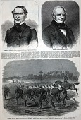 view Charge of the First Massachusetts Regiment on a Rebel Rifle Pit Near Yorktown, from Harper's Weekly, May 17, 1862 digital asset number 1
