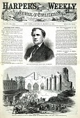 view Hon. John Wentworth, Mayor Elect of Chicago, from Harper's Weekly, March 17, 1860 digital asset number 1
