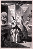 """view """"Anything for me, if you please?""""--Post-office of the Brooklyn Fair, from Harper's Weekly, March 5, 1864 digital asset number 1"""