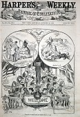 view Welcome to the Prince of Wales, from Harper's Weekly, October 20, 1860 digital asset number 1