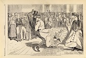 view A Parisian Ball--Dancing at the Casino, from Harper's Weekly, November 23, 1867 digital asset number 1