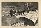 view Winter at Sea--Taking in Sail off the Coast, from Harper's Weekly, January 16, 1869 digital asset number 1