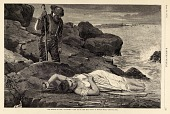 """view The Wreck on the """"Atlantic""""--Cast up by the Sea, from Harper's Weekly, April 26, 1873 digital asset number 1"""